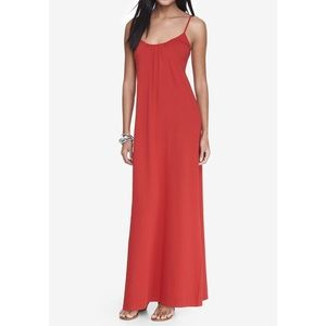 Red Maxi Dress with Cut-out Back